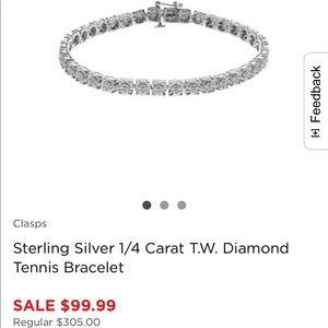 Jewelry - Diamond tennis bracelet 1/4 ct
